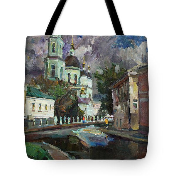 At The Church Sergius In Moscow Tote Bag