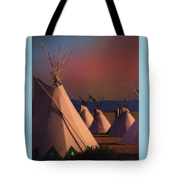 At The Encampment Tote Bag