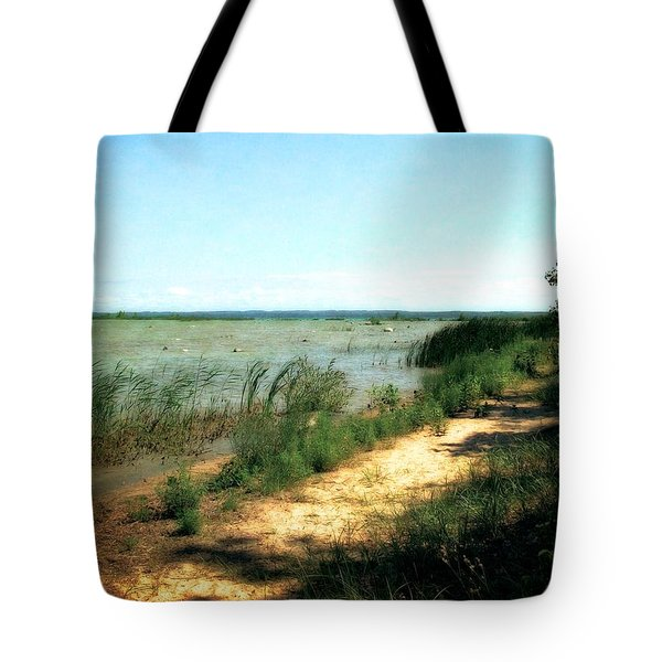 At The End Of Old Mission Peninsula Tote Bag