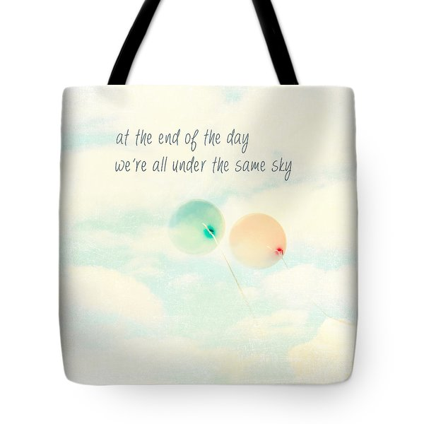 Tote Bag featuring the photograph At The End Of The Day by Sylvia Cook