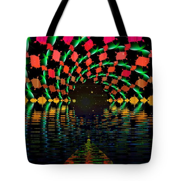 At The End Of The Tunnel Tote Bag by Faye Symons