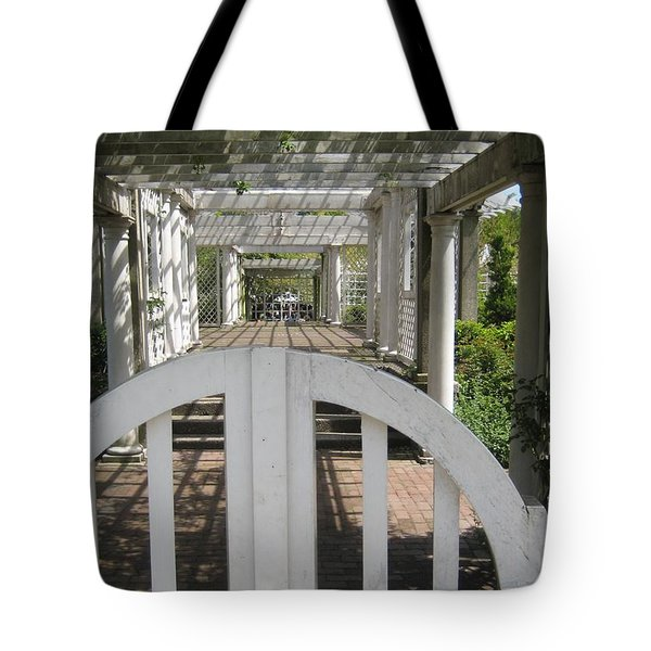 At The Garden Gate Tote Bag by Melissa McCrann