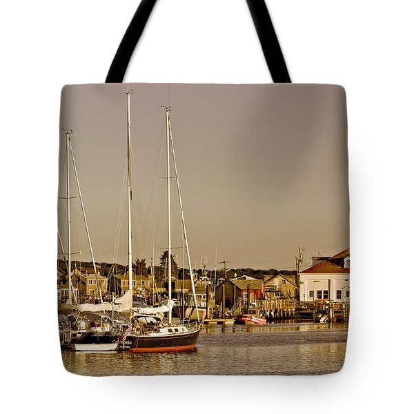 At The Harbor - Martha's Vineyard Tote Bag by Kim Hojnacki