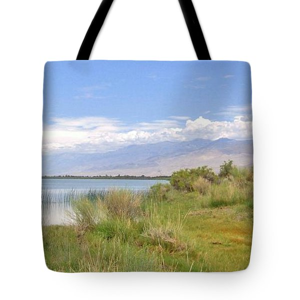Tote Bag featuring the photograph At The Lake by Marilyn Diaz