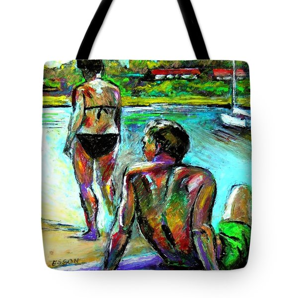 At The Marina Tote Bag