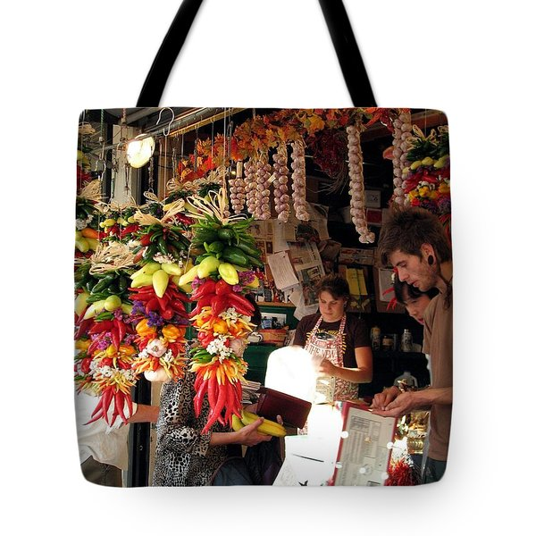 At The Market Tote Bag by Chris Anderson
