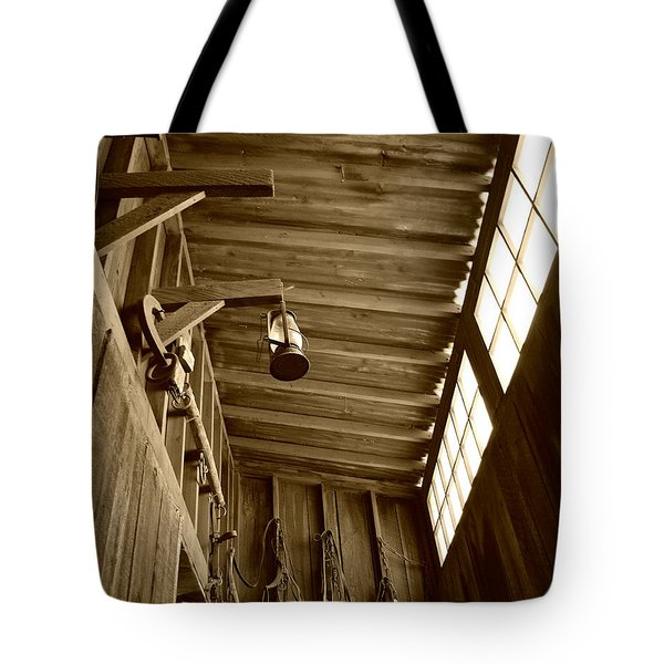 At The Museum - Sepia Tote Bag