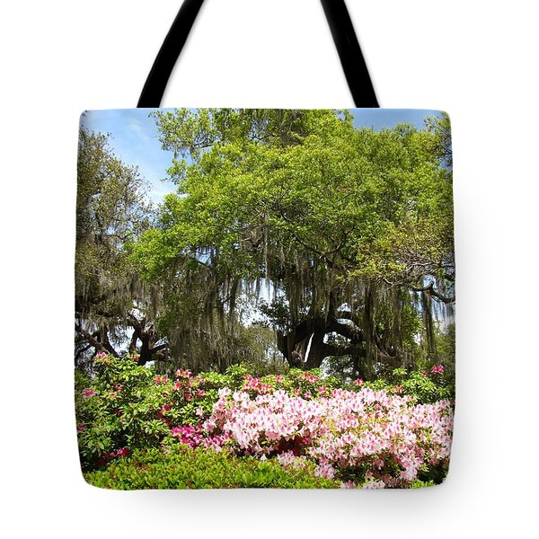 Tote Bag featuring the photograph At The Park by Beth Vincent