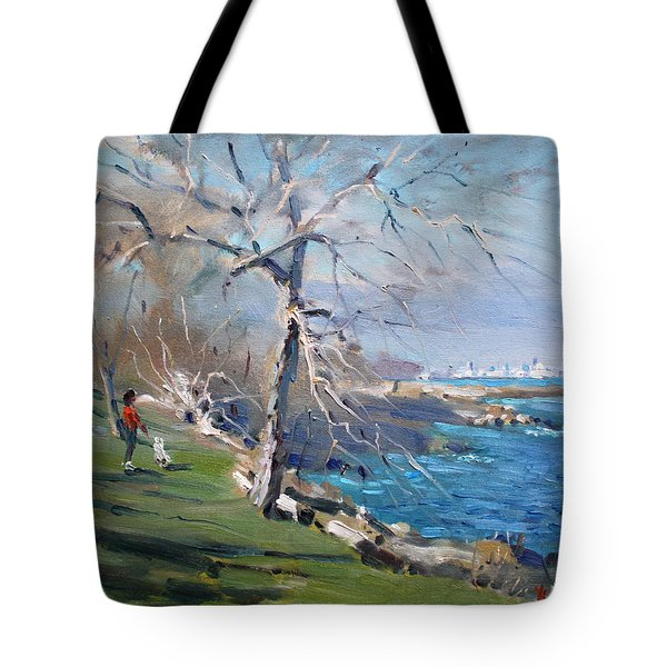 At The Park By Lake Ontario Tote Bag