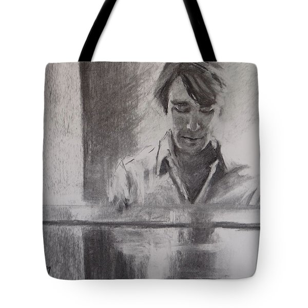 At The Piano Tote Bag by Carol Berning