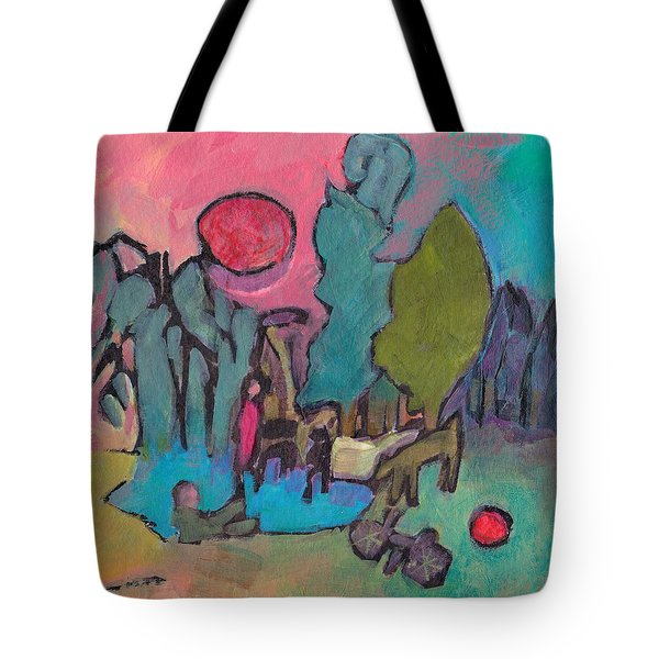 At The Pond Tote Bag by Catherine Redmayne