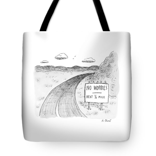At The Side Of A Stretch Of Rural Road Tote Bag