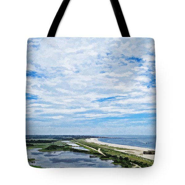 At The Top Of The Lighthouse Tote Bag