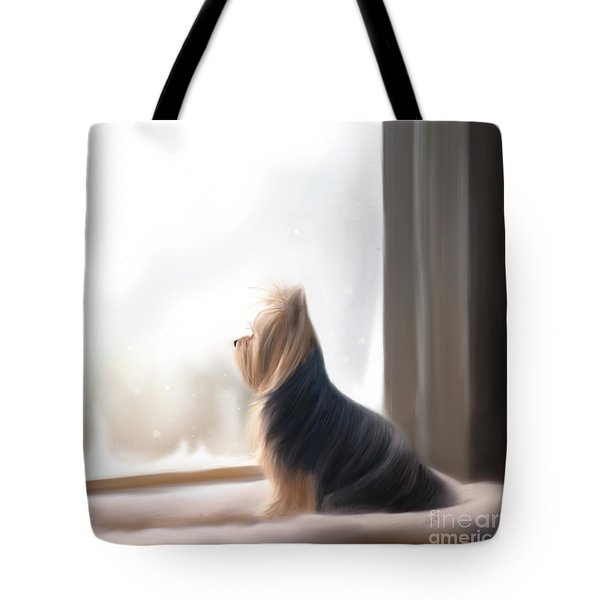 At The Window Tote Bag by Catia Cho