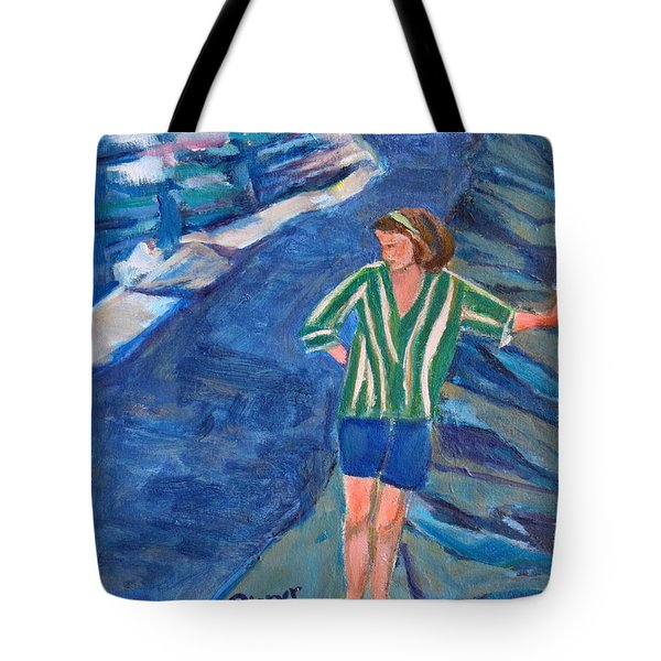 At Wintergreen Park Canajoharie 1957 Tote Bag by Betty Pieper