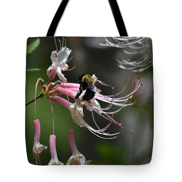 Tote Bag featuring the photograph At Work by Tara Potts