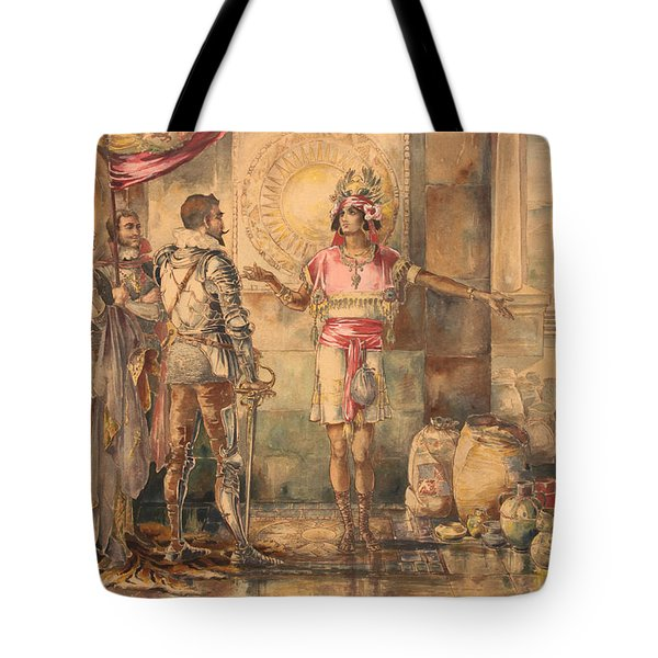 Atahualpa's Ransom Helen Maitland Armstrong Tote Bag by Paul Ashby Antique Paintings