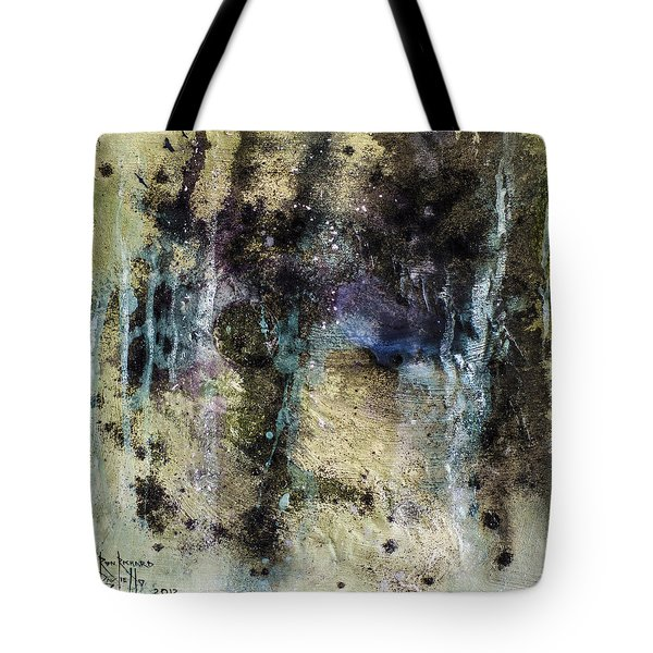 Tote Bag featuring the painting Atavistic by Ron Richard Baviello