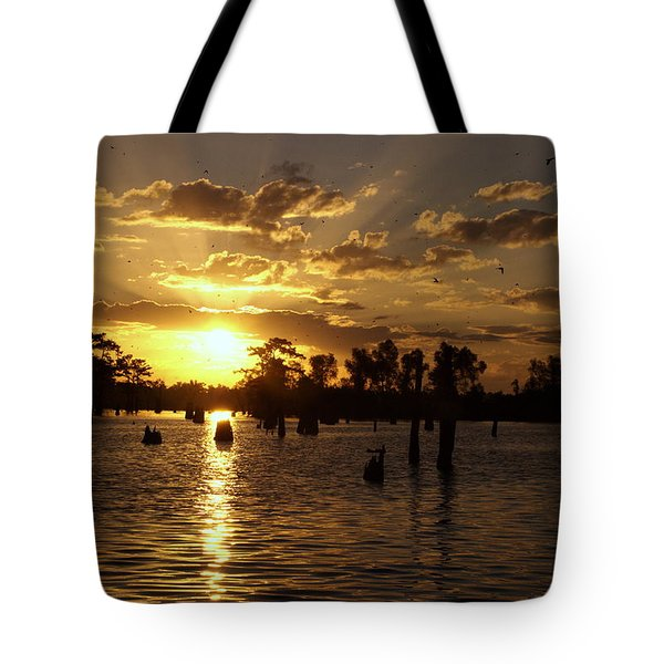 Atchafalaya Sunrise Tote Bag