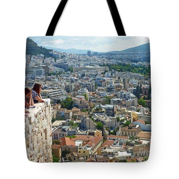 Athenian Scholars Tote Bag by Cheryl Del Toro