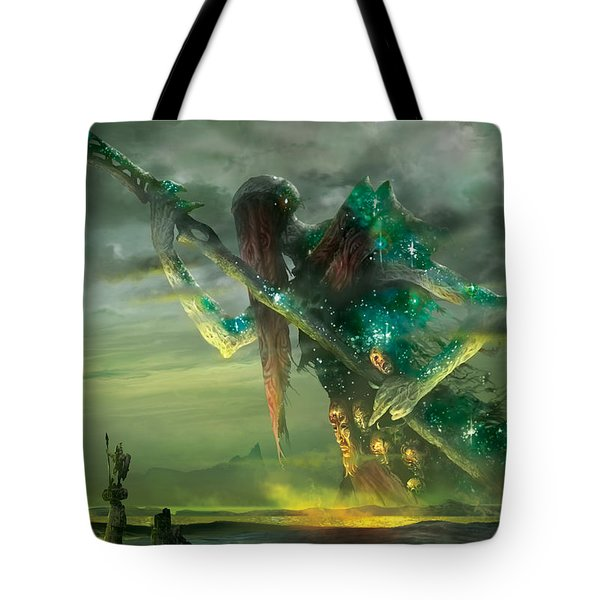 Athreos God Of Passage Tote Bag by Ryan Barger