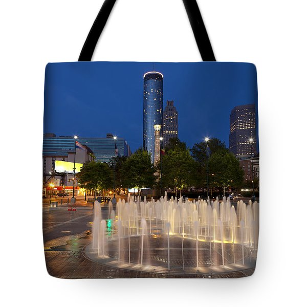 Atlanta By Night Tote Bag