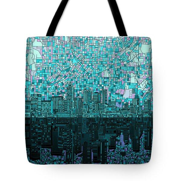 Atlanta Skyline Abstract 2 Tote Bag by Bekim Art