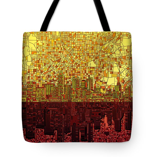 Atlanta Skyline Abstract 3 Tote Bag