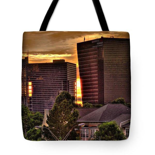 Georgia Power Building Sunset Tote Bag