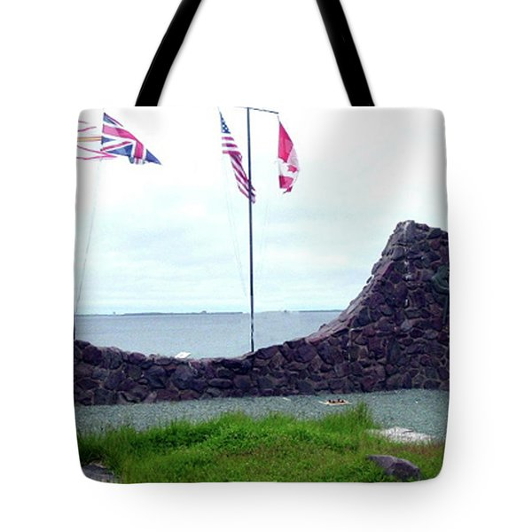Atlantic Charter Historic Site Tote Bag by Barbara Griffin