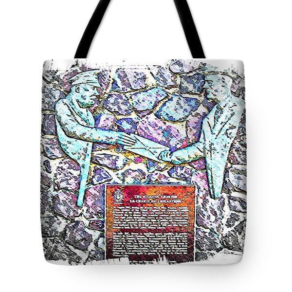 Atlantic Charter Monument Tote Bag by Barbara Griffin