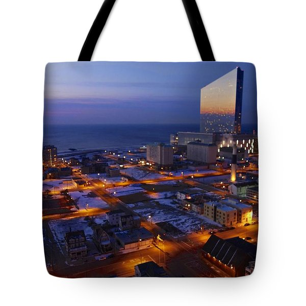 Atlantic City At Dawn Tote Bag
