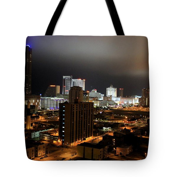 Atlantic City At Night Tote Bag