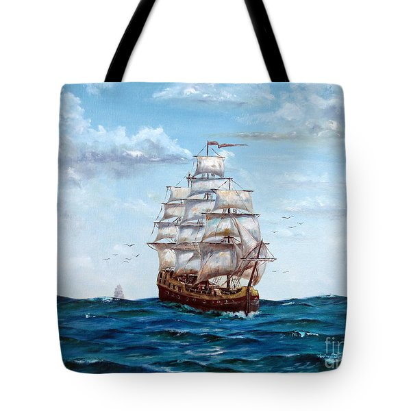 Atlantic Crossing  Tote Bag by Lee Piper