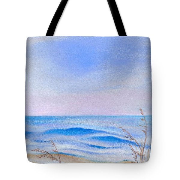 Tote Bag featuring the pastel Atlantic Evening by MM Anderson