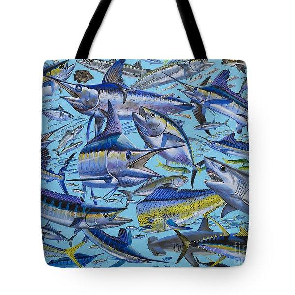 Atlantic Gamefish Off008 Tote Bag by Carey Chen
