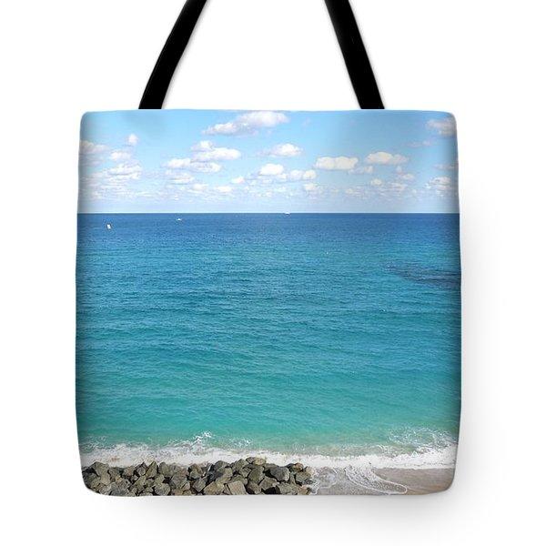 Atlantic Ocean In South Florida Tote Bag