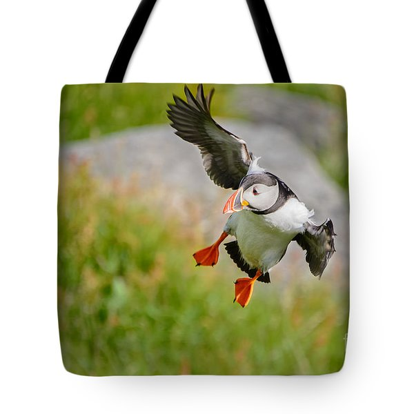 Atlantic Puffin, Incoming.... Tote Bag