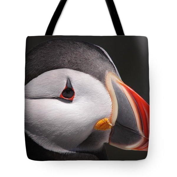 Atlantic Puffin Portrait Tote Bag by Bruce J Robinson