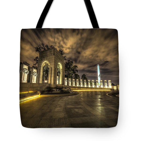 Atlantic Side Of The World War II Memorial Tote Bag