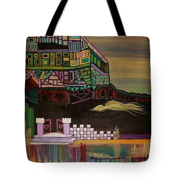 Tote Bag featuring the painting Atlantis by Barbara St Jean