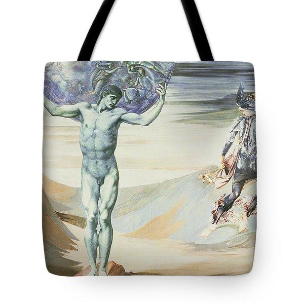 Atlas Turned To Stone, C.1876 Tote Bag by Sir Edward Coley Burne-Jones