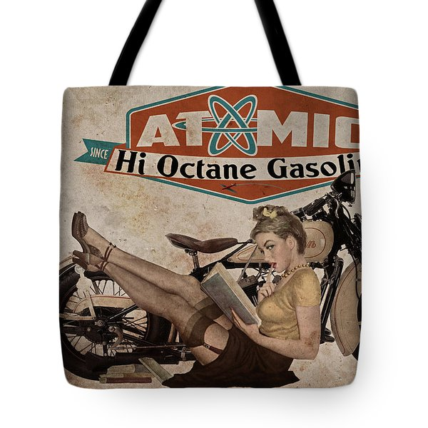 Atomic Gasoline Tote Bag by Cinema Photography