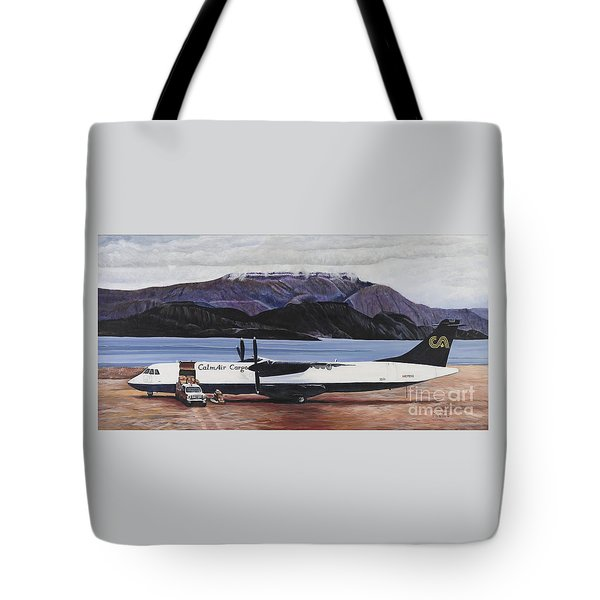 Atr 72 - Arctic Bay Tote Bag by Marilyn  McNish