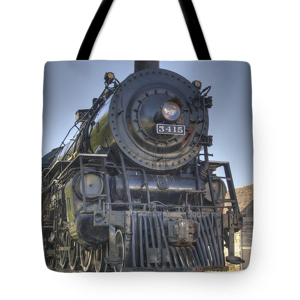 Atsf 3415 Head On Tote Bag by Shelly Gunderson