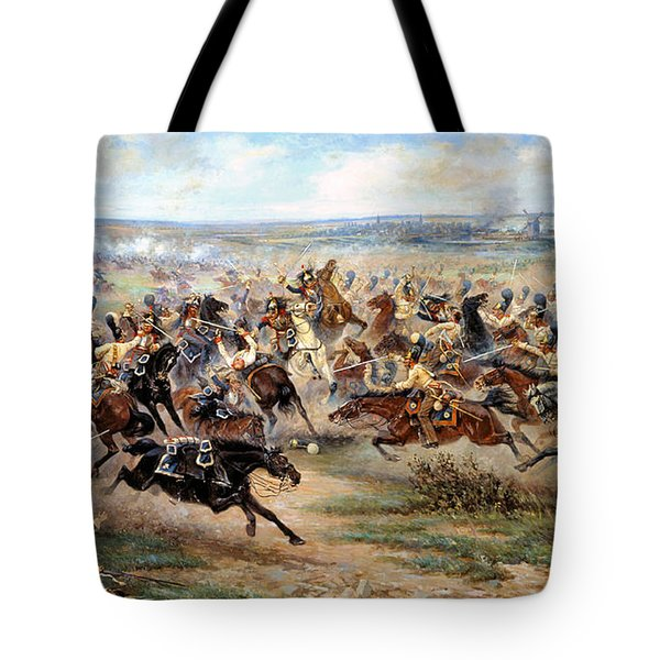 Attack Of The Horse Regiment Tote Bag by Victor Mazurovsky