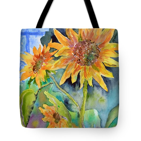 Attack Of The Killer Sunflowers Tote Bag