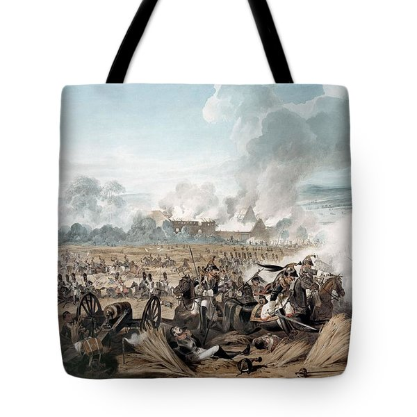 Attack On The British Squares By French Tote Bag
