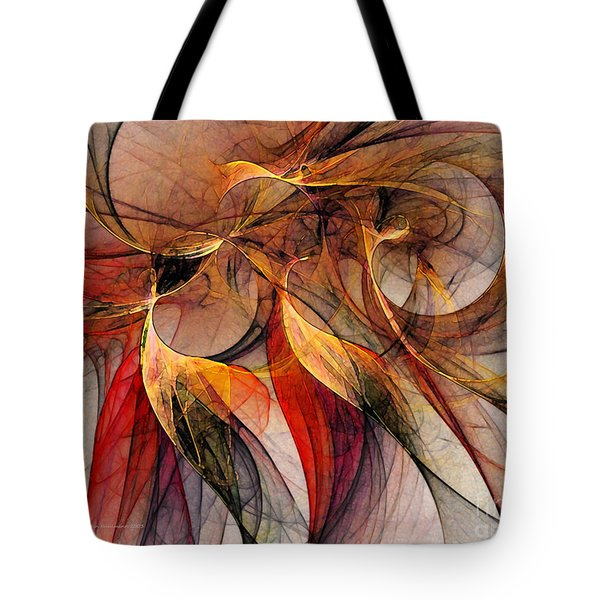 Attempt To Escape-abstract Art Tote Bag