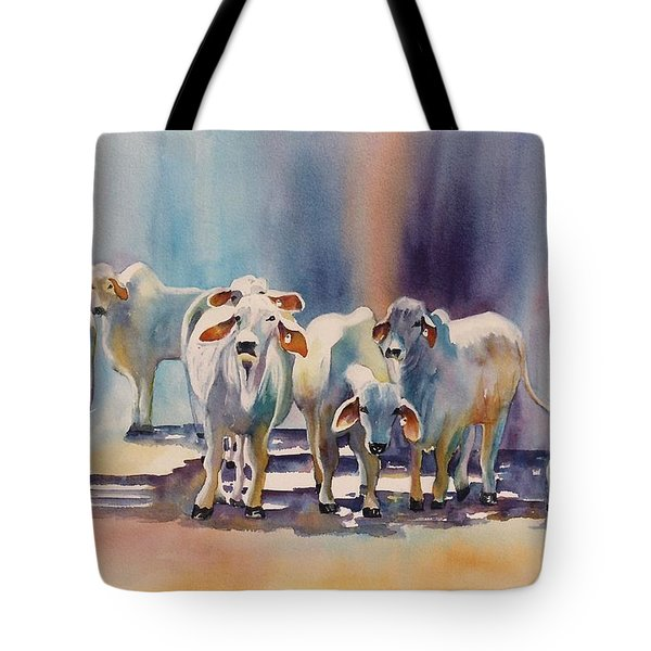 Attention All Ears.  Brahman Bulls Tote Bag